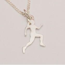 Sport-jewel stříbrný přívěsek - Běžkyně - SJATLE004