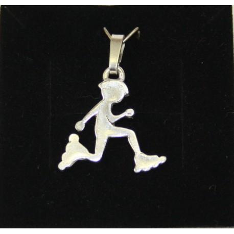 Sport-jewel stříbrný přívěsek - Inline bruslař SJP003